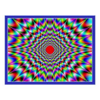Ilusión óptica de la llamarada solar póster