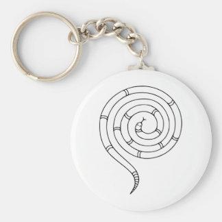 Ilusión óptica de la serpiente imposible llavero personalizado