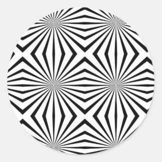 Ilusión óptica de las alucinaciones vivas de etiquetas redondas