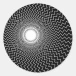 Ilusión óptica de las alucinaciones vivas de Rainb Pegatina Redonda