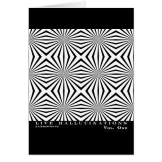 Ilusión óptica de las alucinaciones vivas de Rainb Tarjeta De Felicitación