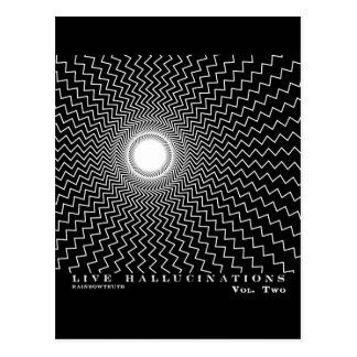 Ilusión óptica de las alucinaciones vivas de Rainb Tarjeta Postal