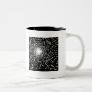 Ilusión óptica de las alucinaciones vivas de taza de dos tonos