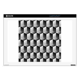 Ilusión óptica de las filas de los cubos portátil skin
