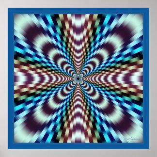 Ilusión óptica de las vibraciones sobresaltadas póster