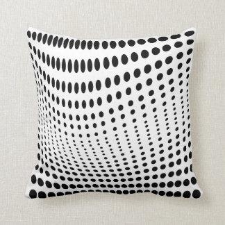 Ilusión óptica de los puntos cojín decorativo