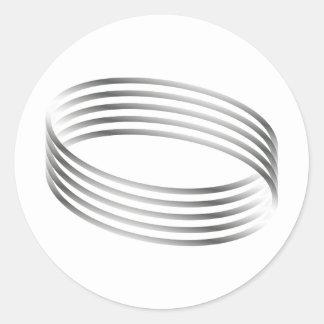 Ilusión óptica del anillo de Majic Pegatina Redonda