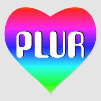 Ilusión óptica del arco iris pegatina en forma de corazón