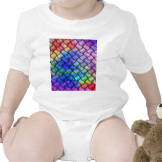 Ilusión óptica del arco iris trajes de bebé