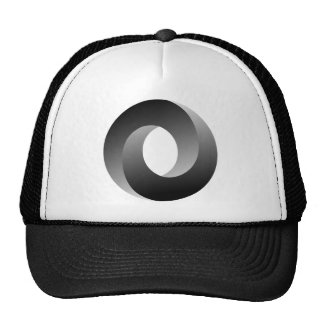 Ilusión óptica del círculo imposible gorras