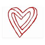 Ilusión óptica del corazón imposible tarjeta postal