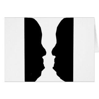 Ilusión óptica del hombre del florero tarjeta de felicitación