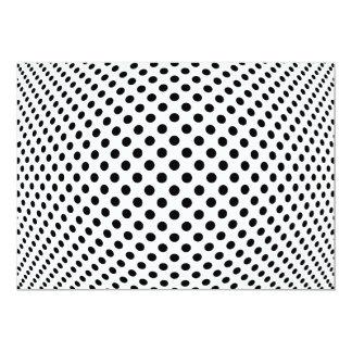 """Ilusión óptica del punto invitación 5"""" x 7"""""""
