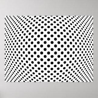 Ilusión óptica del punto póster