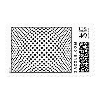 Ilusión óptica del punto sellos