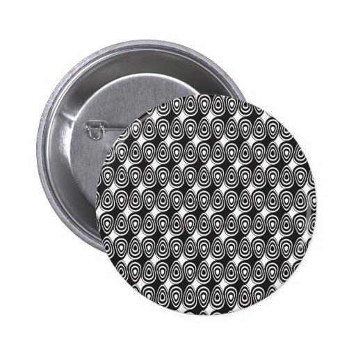 ilusión óptica del remolino blanco y negro pin