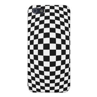 Ilusión óptica del tablero de damas iPhone 5 carcasa