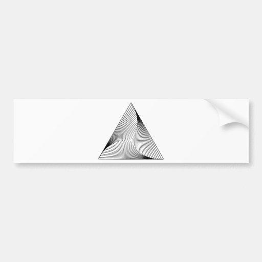 ilusión óptica del triángulo 3d etiqueta de parachoque