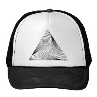 ilusión óptica del triángulo 3d gorra