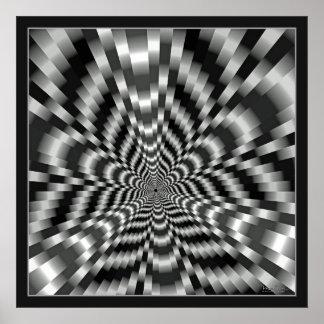 Ilusión óptica del túnel sobresaltado póster