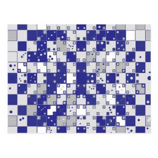 Ilusión óptica en azul y gris postales