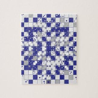 Ilusión óptica en azul y gris