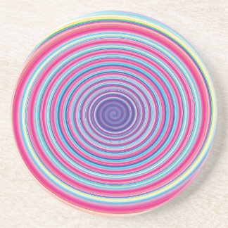 ILUSIÓN ÓPTICA ESPIRAL de GIRO colorida abstracta Posavasos Personalizados