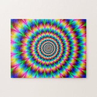 Ilusión óptica espiral del arco iris puzzles con fotos