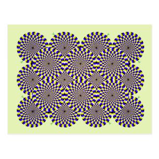 Ilusión óptica giratoria de las serpientes postal