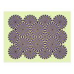 Ilusión óptica giratoria de las serpientes tarjetas postales