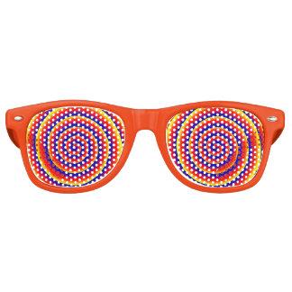 Ilusión óptica hipnótica espiral colorida lentes de fiesta