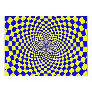 """Ilusión óptica hipnótica invitación 5"""" x 7"""""""