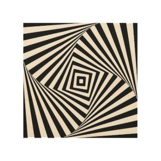 Ilusión óptica impresiones en madera