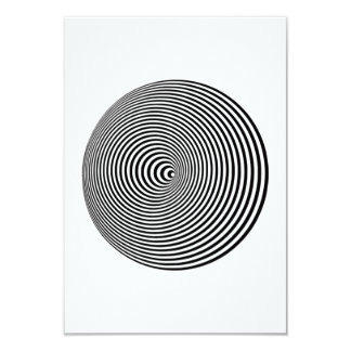 """Ilusión óptica invitación 3.5"""" x 5"""""""