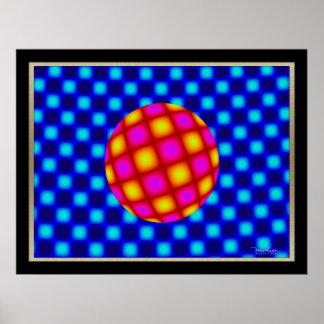 Ilusión óptica libre de la bola de flotación posters