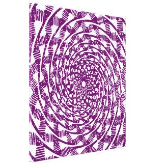Ilusión óptica magenta impresión en lienzo
