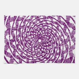 Ilusión óptica magenta toallas de mano
