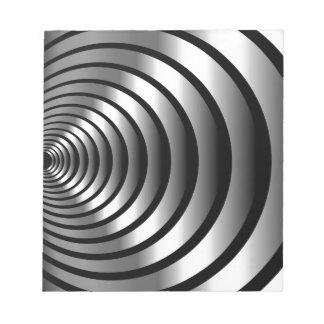 Ilusión óptica metálica blocs de papel