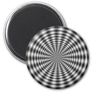 Ilusión óptica negra y blanca imanes de nevera
