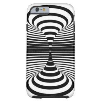 Ilusión óptica (negro y blanco) funda para iPhone 6 tough