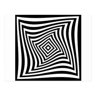 Ilusión óptica para hypnotherapy o psíquico tarjetas postales