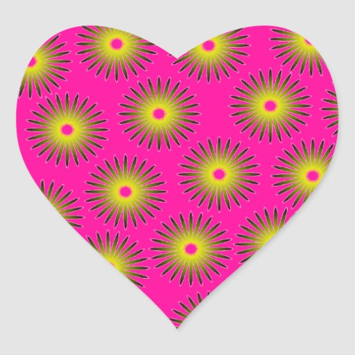 Ilusión óptica pegatina en forma de corazón