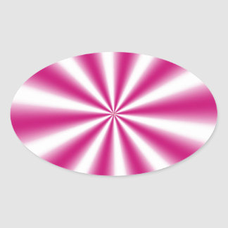 Ilusión óptica pegatina ovalada