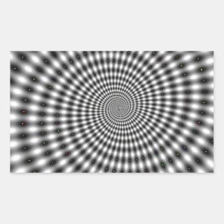 Ilusión óptica pegatina rectangular