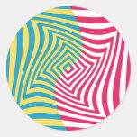 Ilusión óptica pegatina redonda