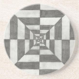 ilusión óptica posavasos diseño