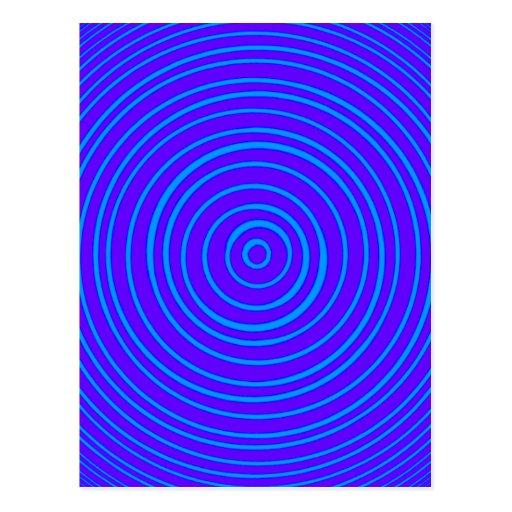 Ilusión óptica púrpura azul de Oddisphere Tarjetas Postales