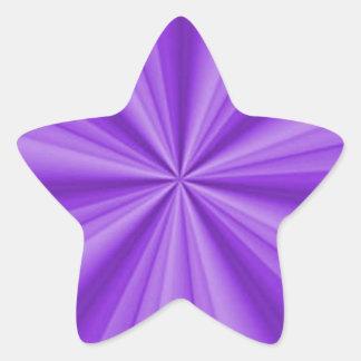 Ilusión óptica púrpura pegatina en forma de estrella