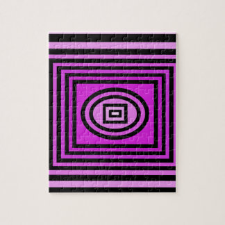 Ilusión óptica púrpura puzzles con fotos