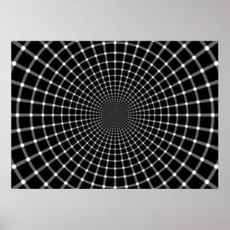 Ilusión óptica radial impresiones
